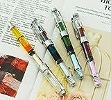 Ranvi 4 pièces Wing sung 3008 piston fontaine stylo ef extra fine plume, transparent couleur argenté trim ensemble.