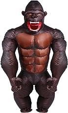 YOWESHOP adulto Gorilla costume–Costume di Halloween gonfiabile orangutan Gibbon Chimp Monkey Fancy Dress Blow Up tuta