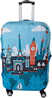 Myosotis510 Travel Around the World Luggage Protector Suitcase Cover