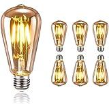 tronisky Ampoule Edison Vintage, Ampoule LED Rétro E27 4W Blanc Chaud Ampoule Edison Filament Antique Ampoules Décorative Lam