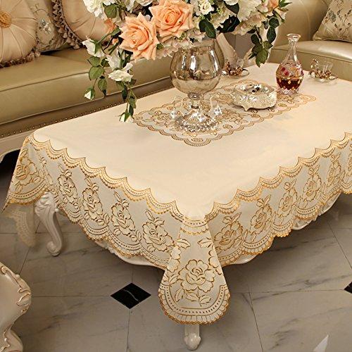 Runden 60 Zoll Esstisch (Kunststoff tischdecken Wasserdicht tischdecke Rechteck-tischdecken Tischplatte Für dinner-partys picknick -N 120x152cm(47x60inch))