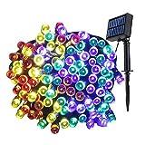 SS SHOVAN LED Solar Lichterkette, 100Leds/12M Weihnachten String Light 8 Modes Wasserdicht Fairy String Lights Außenlichterkette mit Lichtsensor Wasserdicht/Timer/USB Charge Weihnachten