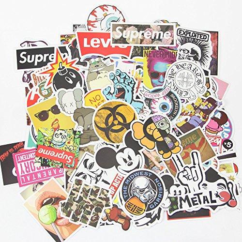Auto Aufkleber [100Pcs], shuishou-d Laptop Aufkleber Motorrad Fahrrad Gepäck Aufkleber Graffiti Patches Skateboard Aufkleber für Laptop-No-Duplicate Aufkleber Pack