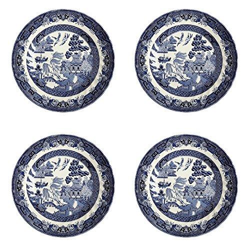 England Willow (Queen 's Blue Willow Salatteller hergestellt in England, 20,3cm, 4Stück)
