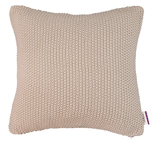 TOM TAILOR 562406 Strickkissenhülle T-Chunky Stitch, 45 x 45 cm, beige