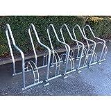Fahrradständer mit Anlehnbügel - 6 Einstellplätze - feuerverzinkt - Anlehnbügel für Fahrräder Bügelparker Fahrradanlehnbügel Fahrräderständer Reihenständer