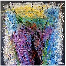 Arte Moderno–XXL acrílico Gemälde–Fuegos artificiales–Firmada por Martin pequeño–150x 150cm–pared de comprar