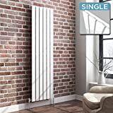 1600 x 452 mm Vertical Column Radiator White Flat Panel