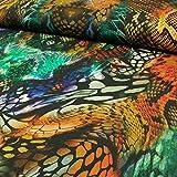 Viskosejersey Eva Digitaldruck Schlangenmuster Damenstoffe