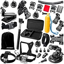 Zookki Accessori per Gopro Hero 5 4 3+ 3 2 1 Black Silver/SJ4000/SJ5000/SJ6000, All
