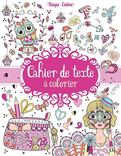 Cahier de texte à colorier par Eugénie VARONE