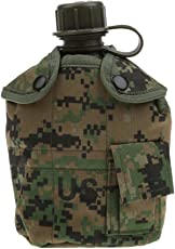 Magideal Outdoor Military Camping Army Water Bottle Canteen Cup Pouch -Jungle Digital