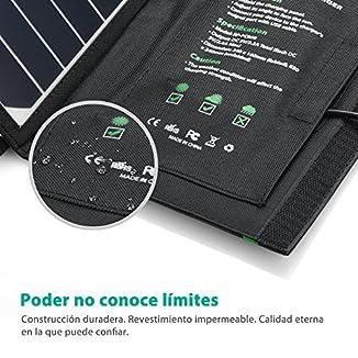 RAVPower Cargador de Panel Solar 16W 3