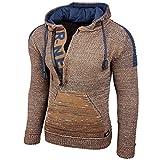 Rusty Neal Top Herren Winter Kapuzenpullover Pulli Sweatshirt Jacke RN-13277, Größe:3XL, Farbe:13290-1 Camel/Petrol