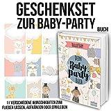 Geschenkset für Freundinnen und Freunde zur Baby-Party mit Erinnerungsalbum inkl. Einladungskarten und Postern zum Download