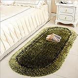 DCY Rug Addensato molla ovale filo materasso comodino camera da letto tappeto bovindo e tappeti , black and green , 70*140
