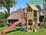 Jungle Gym Spielturm Cubby - Feuerwehrstange Sandkasten Kletterturm