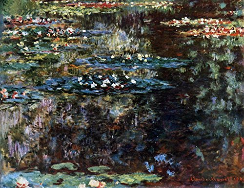 Das Museum Outlet - Water Garden at Giverny by Monet - Leinwand (61 x 45,7 cm) -