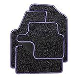 Eight Tec Handelsagentur VMELET_14195 Passgenaue Nadelfilz-Fußmatten Grau-meliert und Rand in Flieder - Fahrzeugtyp in der Artikelbeschreibung beachten!