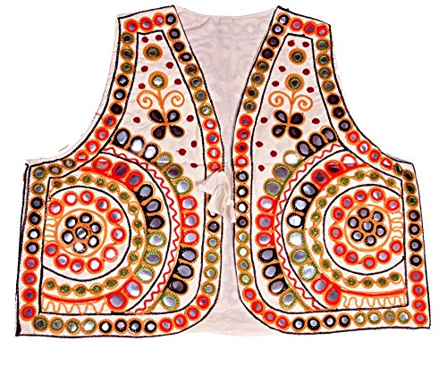 Priya Women's Kutchi Short Jacket koti (Pepor mirror work)