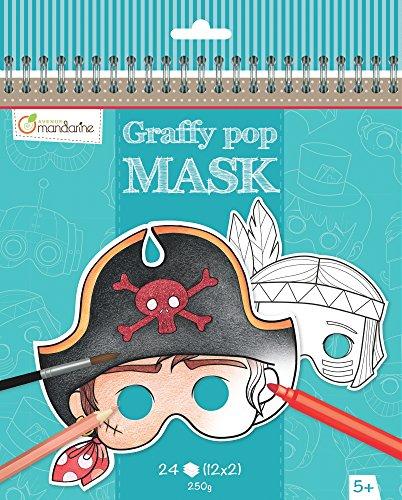 Preisvergleich Produktbild Avenue Mandarine Graffy Pop Maske Farbgebung Pack (schwarz/weiß)