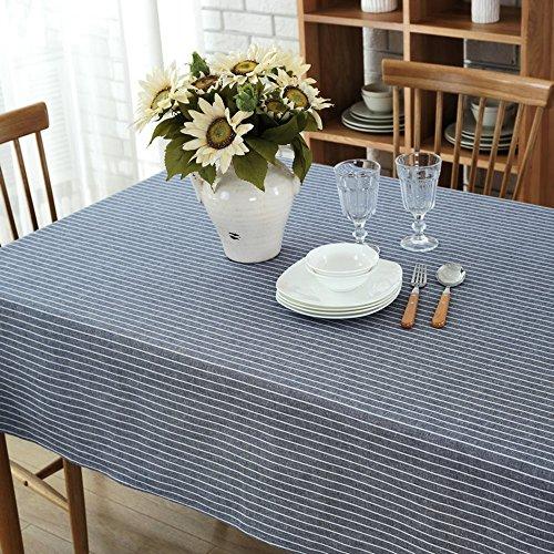 Tischtücher Einfache Hanfstreifen Lebensmitteltuch Staubdicht ( Farbe : Blau , größe : 120*160cm ) - 2