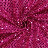 Fabulous Fabrics Paillettenjersey 3mm pink — Meterware ab 0,5m — zum Nähen von Karnevalsartikeln und Accessoires