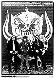 Close Up Motörhead Poster Harrow Road, London 1979 (59,5cm x 84cm) + Original tesa Powerstrips® (1 Pack/20 STK.)