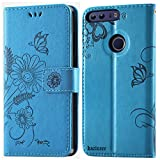 kazineer Funda Honor 8, Honor 8 Funda de Cuero Cartera Carcasa para Huawei Honor 8 Case - Azul Turquesa