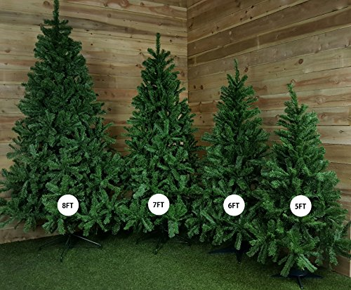funkybuys tall slim snow white colorado spruce artificial christmas tree 180cm 18m 6ft metal stand amazoncouk kitchen home - 8 Ft Christmas Tree