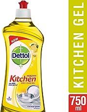 Dettol Kitchen Dish and Slab Gel - 750 ml (Lemon Fresh)