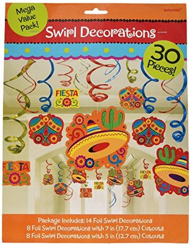 (Amscan Fiesta Dekoration, Wirbel aus Folie)