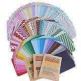 AONER 81 Blatt Masking Sticker Set Maskierung Aufkleber Labeling Craft Scrapbooking Deko Masking Tape für Tagebuch Geschenk Vintage Papieraufkleber DIY
