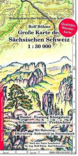 Große Karte der Sächsischen Schweiz 1:30000: Laminierte Ausgabe (Regenfest - Wasserabweisend - Handlich) (Laminierte Karten)