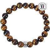 Attraction Zen Bracelet Oeil de Tigre   Immunité en Œil de Tigre d'Afrique du Sud   Pierres Naturelles certifiées   Perle AZ