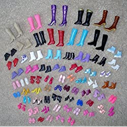 12 Paare Kreative Kombination BARBIE-Puppe SCHUHE
