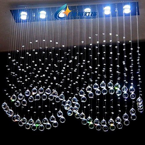 WINZSC Cristal Combinaison Chaude Nouveau Moderne Grand K9 Pendentif Lumières Cristal lumière pour Restaurant LED lumière éclairage Pendentif Lampes SJ78 lo12