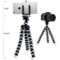 Wemake Flexible Mini Tripod (10 Inch Height) for Camera, DSLR and Smartphones with Universal Mobile Attachment