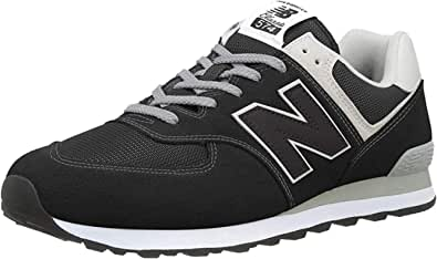 New Balance 574 Core U, Scarpe da Ginnastica Unisex-Adulto, Black/White/Grey, 36 EU