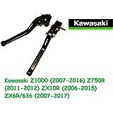 2006 grav/é au laser 2005 Leviers de frein et dembrayage de moto en titane avec logo pour Kawasaki Z1000 2003 2004 Z1000