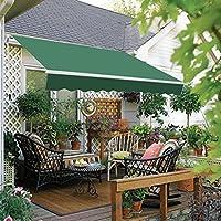 Greenbay 4 X 3m Manual Awning Garden Patio Canopy Sun Shade Shelter Retractable Green