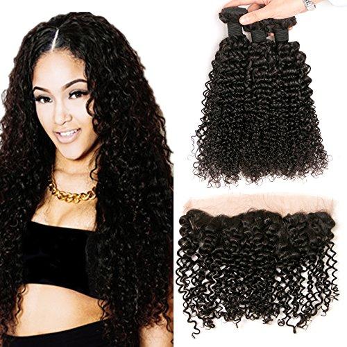 Syk Peruvian Hair Bundles con chiusura a laccio frontale 4* 13free Part e 3Bundles Unprocessed Human Hair Weft Natural color
