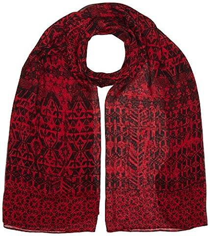 Sandwich Damen Schals Woven, Red (Scarlet Red), Einheitsgröße