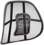 Tallin Ventilated Mesh Back support Rest for Car seat, Home and Office Chair, set of 2 (Black)