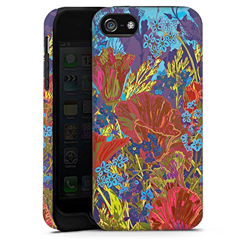 Apple iPhone X Silikon Hülle Case Schutzhülle Rote Blumen Muster Tough Case matt