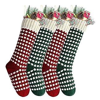 Charlemain Calcetín Navideño, Bolsa de Regalo de Saco de Calcetín de Navidad para la Decoración del Árbol Adorno Navideño, Bolsa de Dulces