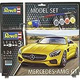 Revell Modellbausatz Auto 1:24 - Mercedes-Benz AMG GT im Maßstab 1:24, Level 3, originalgetreue Nachbildung mit vielen Details, Model Set mit Basiszubehör, 67028