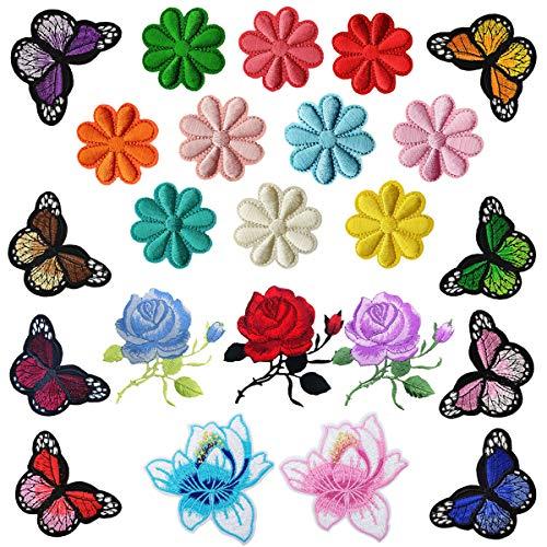 Woohome Patch Sticker für Kleidung Blumen Aufnäher Applikation Flicken Kinder Patches für DIY (Blumen und - Zerbrochene Puppe Kostüm