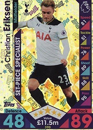 16/2017 Christian Eriksen (Tottenham Hotspur) Set-Piece Specialist 16/17 Trading Card (Eriksen Match Attax)