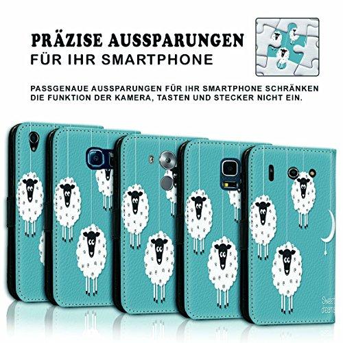 Wallet Book Style Flip Handy Tasche Case Schutz Hülle Schale Motiv Etui für Apple iPhone 5 / 5S - Variante UMV3 Design12 Design 5